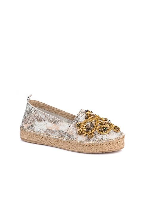 Elle Espadril Ayakkabı Bronz